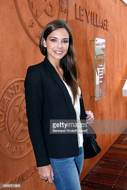 Miss France 2013 Marine Lorphelin attends the Roland Garros French Tennis Open 2014 Day 11 on June 4 2014 in Paris France