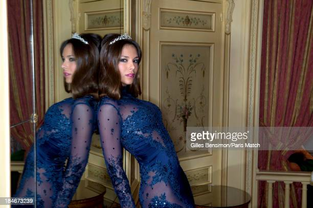 Miss France 2013 Marine Lorphelin is photographed for Paris Match on October 4 2013 in Paris France