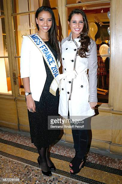 Miss France 2014 Flora Coquerel and Miss France 2010 Malika Menard attend the 'Charriol' Ephemeral Boutique opening hosted by Nathalie Garcon at...
