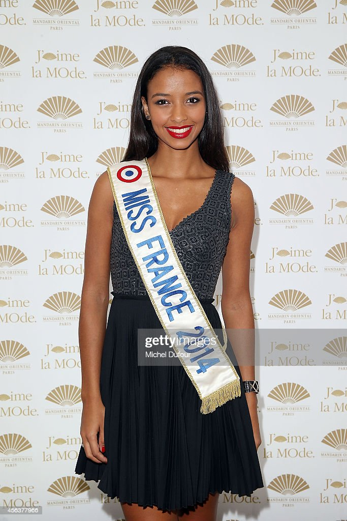 Miss france 2014 <a gi-track='captionPersonalityLinkClicked' href=/galleries/search?phrase=Flora+Coquerel&family=editorial&specificpeople=11782455 ng-click='$event.stopPropagation()'>Flora Coquerel</a> attends 'J'aime La Mode 2014' party in Mandarin Oriental as part of the Paris Fashion Week Womenswear Spring/Summer 2015 on September 29, 2014 in Paris, France.