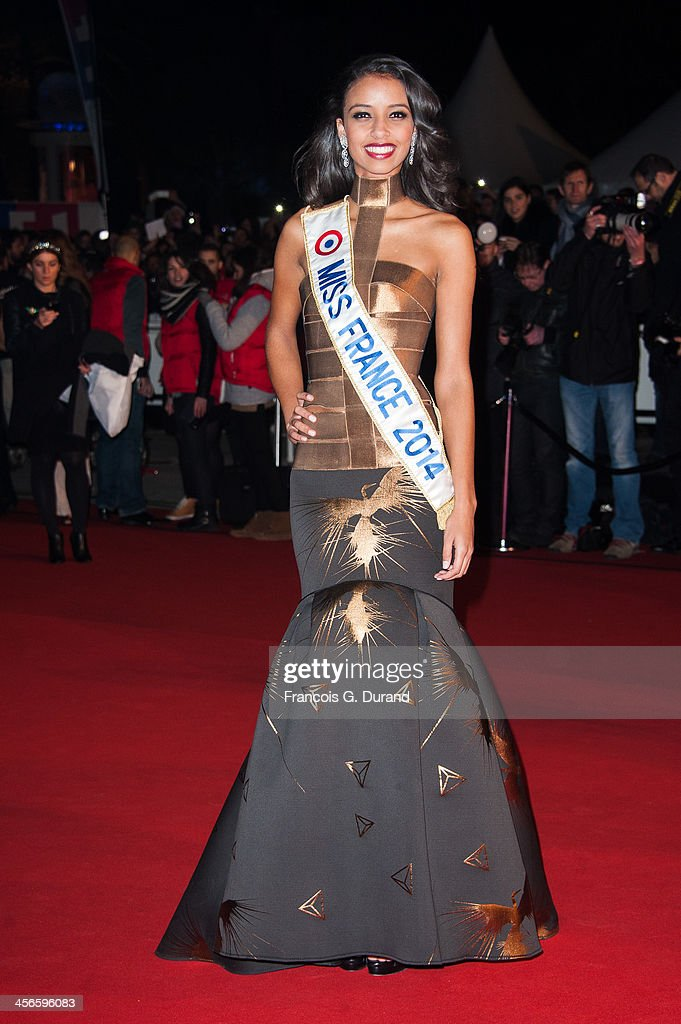 Miss France 2014 Flora Coquerel attends the 15th NRJ Music Awards at Palais des Festivals on December 14, 2013 in Cannes, France.