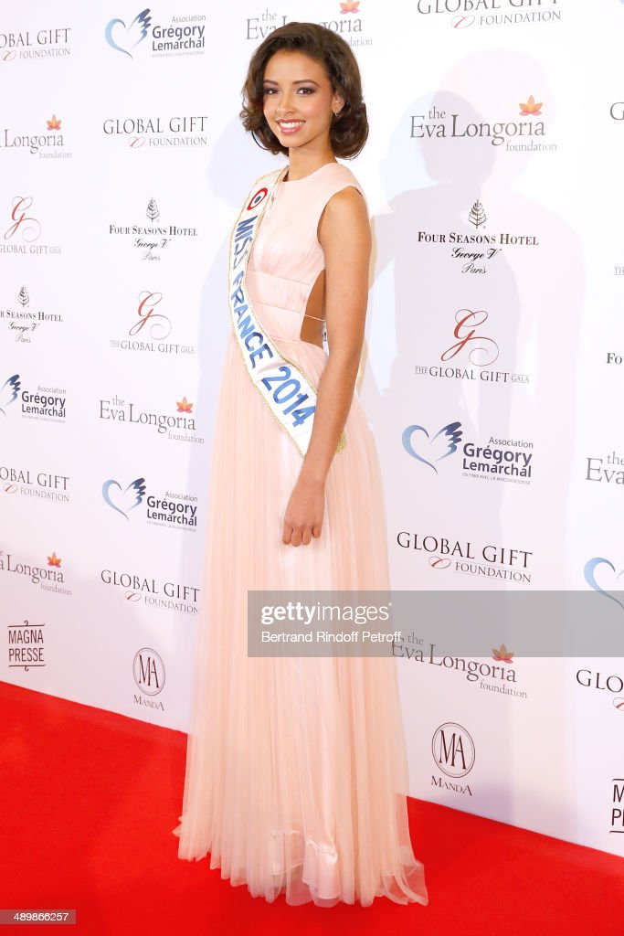 Miss France 2014 <a gi-track='captionPersonalityLinkClicked' href=/galleries/search?phrase=Flora+Coquerel&family=editorial&specificpeople=11782455 ng-click='$event.stopPropagation()'>Flora Coquerel</a> attends the 'Global Gift Gala' 2014 - Charity Dinner at the Four Seasons Hotel on May 12, 2014 in Paris, France.