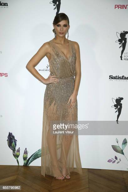 Miss France 2015 Camille Cerf attends 'Les Bonnes Fees' Charity Gala at Hotel D'Evreux on March 20 2017 in Paris France