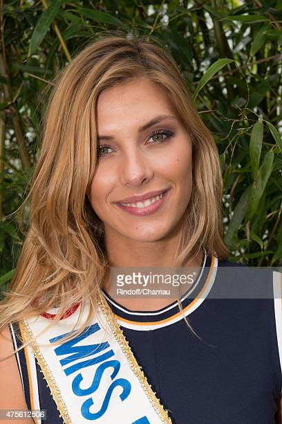 Miss France 2015 Camille Cerf attends the French Open at Roland Garros on June 2 2015 in Paris France