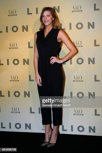 Miss France 2015 Camille Cerf attends the 'Lion' Paris premiere at Cinema Gaumont Opera on February 10 2017 in Paris France