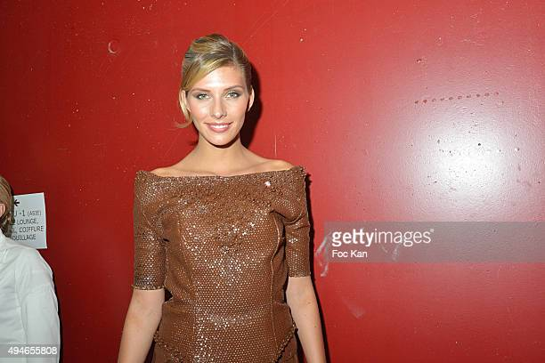 Miss France 2015 Camille Cerf dressed by Christelle Brua for Le Pre Catelan Reouven Zana Hair dressed by Franck Provost and Make Up by Make Up For...