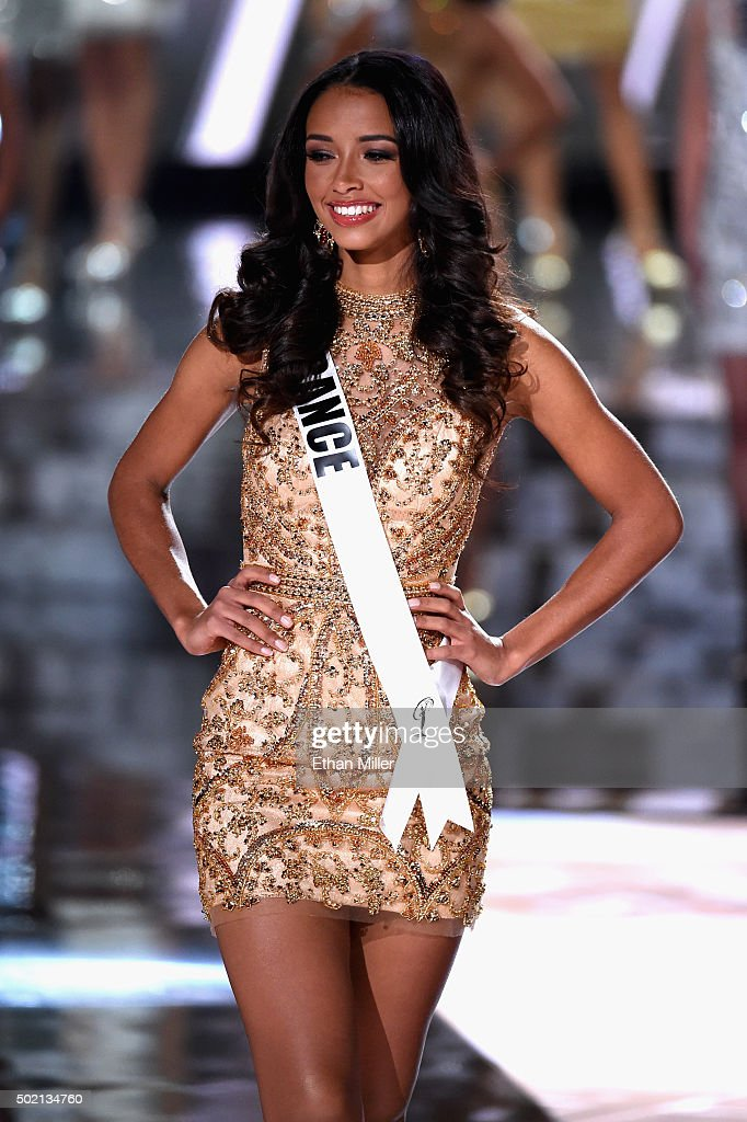 Miss France 2015, <a gi-track='captionPersonalityLinkClicked' href=/galleries/search?phrase=Flora+Coquerel&family=editorial&specificpeople=11782455 ng-click='$event.stopPropagation()'>Flora Coquerel</a>, is named a top 15 finalist during the 2015 Miss Universe Pageant at The Axis at Planet Hollywood Resort & Casino on December 20, 2015 in Las Vegas, Nevada.