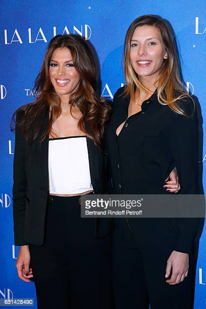 Miss France 2016 Iris Mittenaere and Miss France 2015 Camille Cerf attend the 'La La Land' Paris Premiere at Cinema UGC Normandie on January 10 2017...
