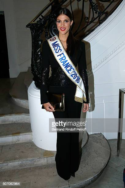 Miss France 2016 Iris Mittenaere attend the Jean Paul Gaultier Spring Summer 2016 show as part of Paris Fashion Week on January 27 2016 in Paris...