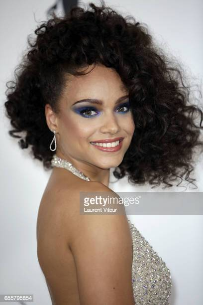 Miss France 2017 Alicia Aylies attends 'Les Bonnes Fees' Charity Gala at Hotel D'Evreux on March 20 2017 in Paris France