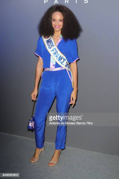 Miss France 2017 Alicia Aylies attends the Leonard Paris show as part of the Paris Fashion Week Womenswear Fall/Winter 2017/2018 on March 6 2017 in...