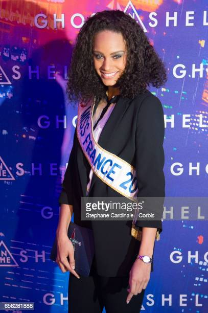 Miss france 2017 Alicia Aylies attends the Paris Premiere of the Paramount Pictures release 'Ghost In The Shell' at Le Grand Rex on March 21 2017 in...