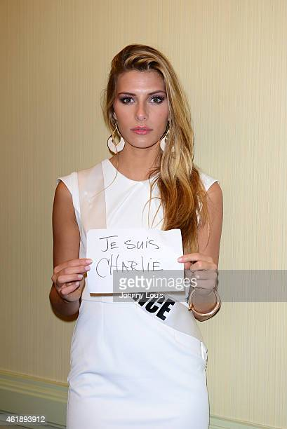 Miss France Camille Cerf attends Miss Universe Press Junket at Crowne Plaza Hotel on January 20 2015 in Miami Florida