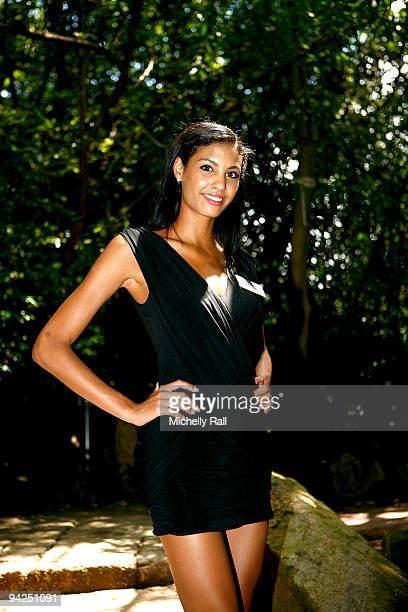 Miss France Chloe Mortaud attends a photocall for Miss World 2009 at Gallagher Convention Centre on December 10 2009 in Johannesburg South Africa