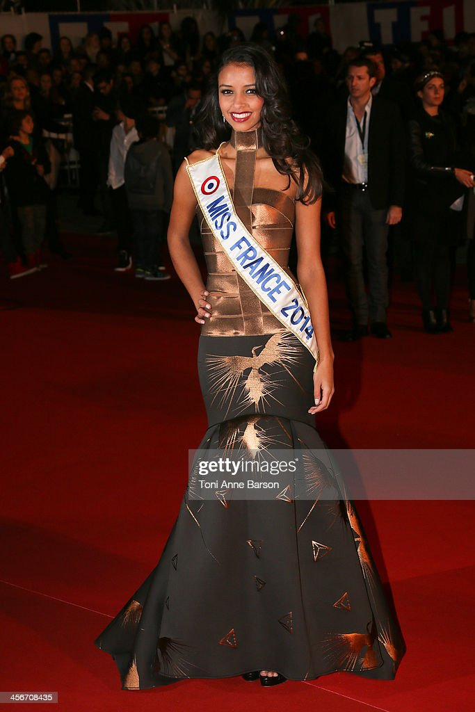 Miss France Flora Coquerel arrives at the 15th NRJ Music Awards at the Palais des Festivals on December 14, 2013 in Cannes, France.