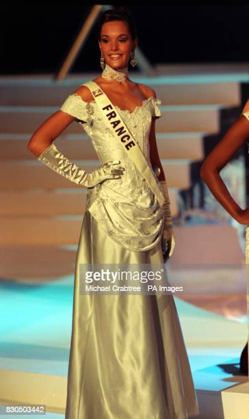 Miss France Karine Meier during the Miss World contest at The Millennium Dome in Greenwich