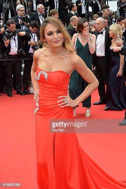 Miss France Valerie Begue attends the Premiere of 'Macbeth' during the 68th annual Cannes Film Festival on May 23 2015 in Cannes France