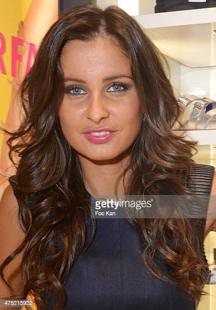 Miss France2010/TV presenter Malika Menard attends the director Jacques Bral Exhibition Preview at 28 Matignon Gallery on May 29 2015 in Paris France
