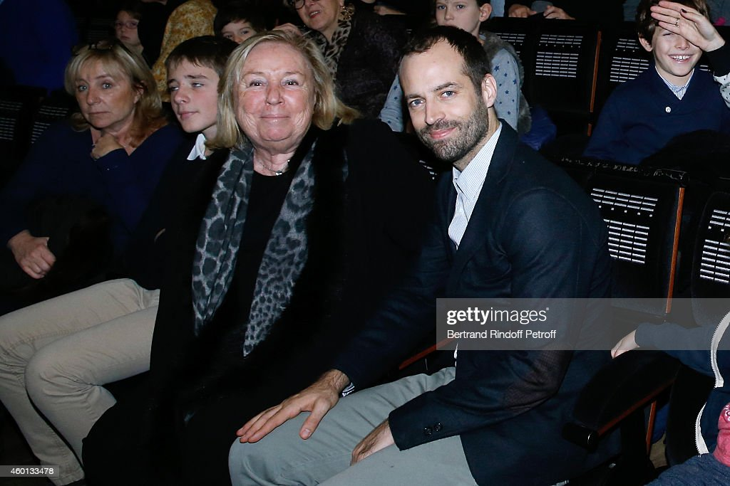 Miss Francois Pinault (Maryvonne) and Paris National Opera dance director Benjamin Millepied attend the Matinee 'Reve d'enfants' with Opera 'Casse Noisette'. Organized by AROP at Opera Bastille on December 7, 2014 in Paris, France.