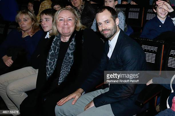 Miss Francois Pinault and Paris National Opera dance director Benjamin Millepied attend the Matinee 'Reve d'enfants' with Opera 'Casse Noisette'...