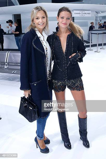 Miss Frederic Saldmann and her daughter Sixteen attend the Chanel show as part of the Paris Fashion Week Womenswear Spring/Summer 2016 Held at Grand...