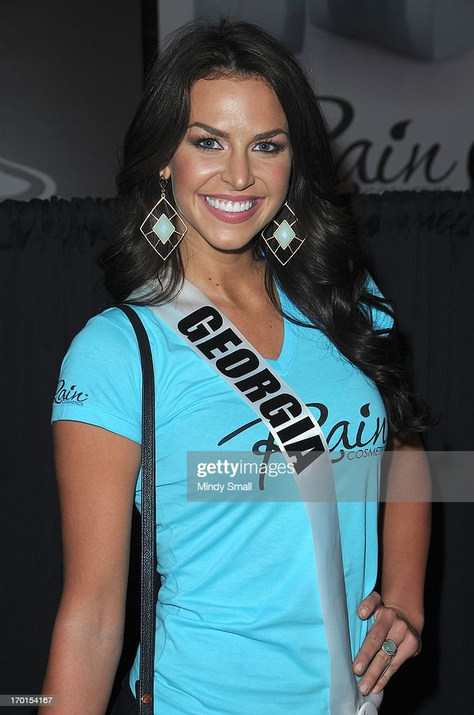 Miss Georgia USA Brittany Sharp appears at the D Las Vegas for a meet and greet and autograph signing on June 7, 2013 in Las Vegas, Nevada.