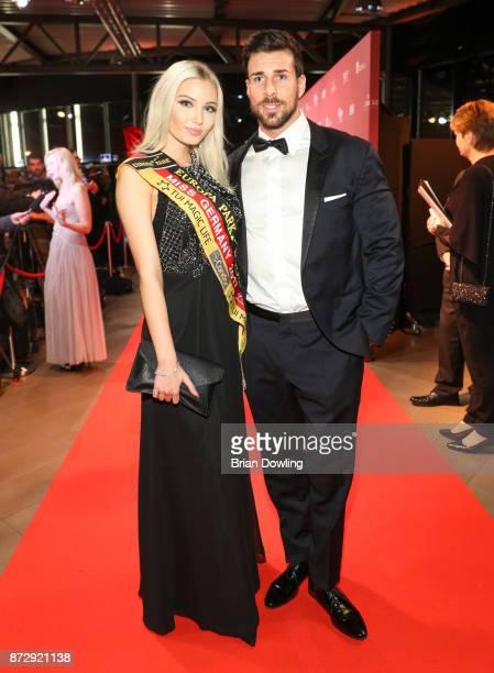 Miss Germany 2017 Soraya Kohlmann and Leonard Freier attend the TULIP Gala 2017 at MetropolisHalle on November 11 2017 in Potsdam Germany