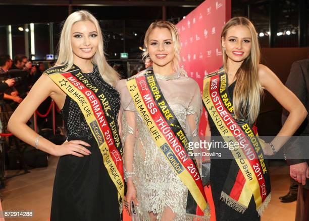 Miss Germany 2017 Soraya Kohlmann Miss Thuringen 2017 Victoria Selivanov and Miss Ostdeutschland 2017 Patrycja Kupka attend the TULIP Gala 2017 at...