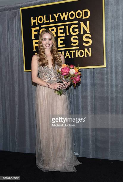 Miss Golden Globe 2015 Greer Grammar attends HFPA and InStyle celebrate the 2015 Golden Globe Award Season and Miss Golden Globe at Fig Olive Melrose...