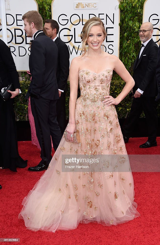 Miss Golden Globe 2015 Greer Grammer attends the 72nd Annual Golden Globe Awards at The Beverly Hilton Hotel on January 11 2015 in Beverly Hills...