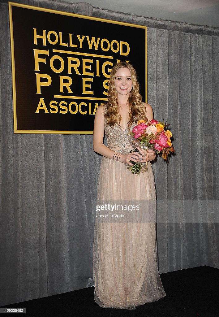 Miss Golden Globe 2015 Greer Grammer attends the Hollywood Foreign Press Association and InStyle's celebration of the 2015 Golden Globe award season...