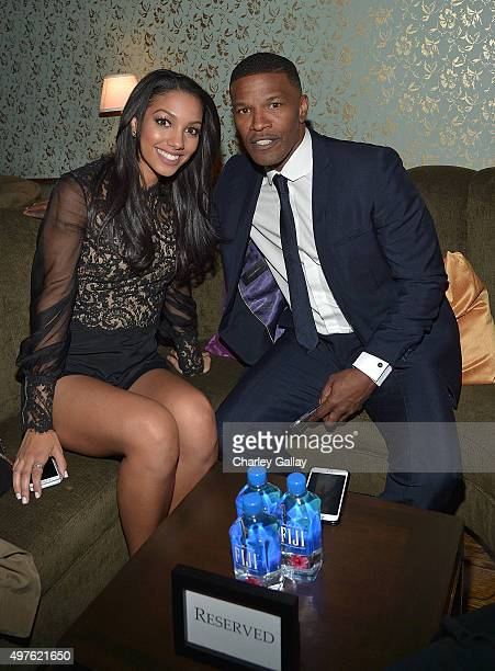 Miss Golden Globe 2016 Corinne Foxx and actor Jamie Foxx attend Hollywood Foreign Press Association and InStyle celebrate the 2016 Golden Globes...