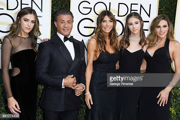 Miss Golden Globe 2017 Scarlet Stallone actress Jennifer Flavin actor Sylvester Stallone Miss Golden Globe 2017 Scarlet Stallone and Miss Golden...