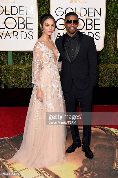 Miss Golden Globe Corinne Foxx and actor Jamie Foxx attend the 73rd Annual Golden Globe Awards held at the Beverly Hilton Hotel on January 10 2016 in...