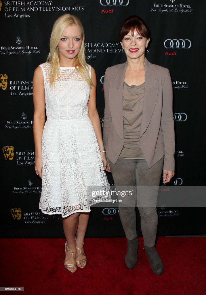 Miss Golden Globe Francesca Eastwood and actress Frances Fisher arrive at the BAFTA Los Angeles 2013 Awards Season Tea Party held at the Four Seasons Hotel Los Angeles on January 12, 2013 in Los Angeles, California.