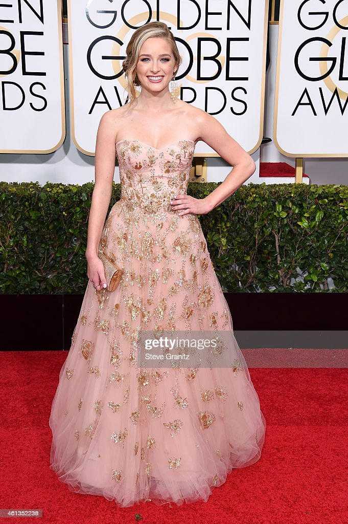 Miss Golden Globe <a gi-track='captionPersonalityLinkClicked' href=/galleries/search?phrase=Greer+Grammer&family=editorial&specificpeople=4524282 ng-click='$event.stopPropagation()'>Greer Grammer</a> attends the 72nd Annual Golden Globe Awards at The Beverly Hilton Hotel on January 11, 2015 in Beverly Hills, California.