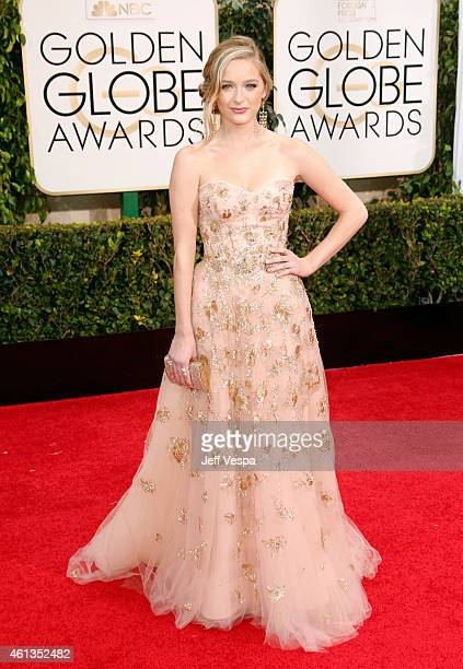 Miss Golden Globes Greer Grammer attends the 72nd Annual Golden Globe Awards at The Beverly Hilton Hotel on January 11 2015 in Beverly Hills...