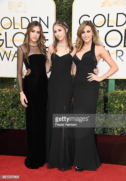 Miss Golden Globes Sistine Stallone Miss Golden Globes Scarlet Stallone and Miss Golden Globes Sophia Stallone attend the 74th Annual Golden Globe...