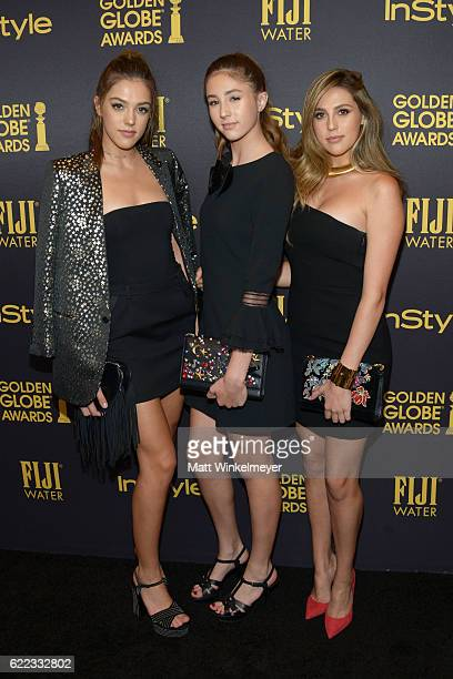 2016 Miss Golden Globes Sistine Stallone Scarlet Stallone and Sophia Stallone arrive at the Hollywood Foreign Press Association and InStyle celebrate...