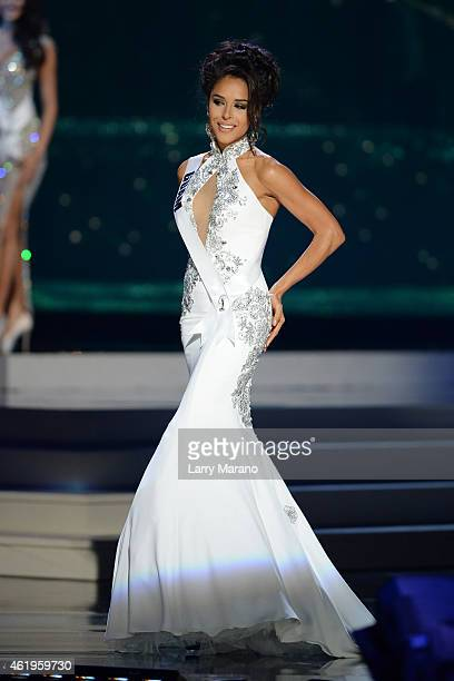 Miss Guam Brittany Bell participtaes in the 63rd Annual Miss Universe Preliminary Show at Florida International University on January 21 2015 in...