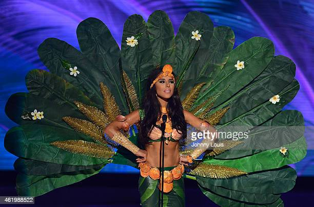 Miss Guam Brittany MesaBell participates in 63rd Annual MISS UNIVERSE Preliminary Show and National Costume Show at Florida International University...
