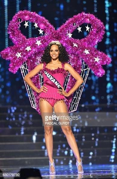 Miss guyane alicia aylies performs on stage during the miss france 2017 beauty contest on - Miss guyane alicia aylies ...