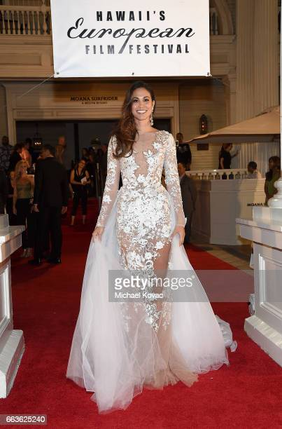 Miss Hawaii USA 2016 Chelsea Hardin arrives at the 8th Annual Hawaii European Cinema Film Festival Gala at Moana Surfrider on March 31 2017 in...