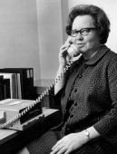 FEB 21 1972 MAR 29 1972 APR 2 1972 Miss Helen Keaveny consumer education specialist in Denver's FDA office at phone where tapes explain new...