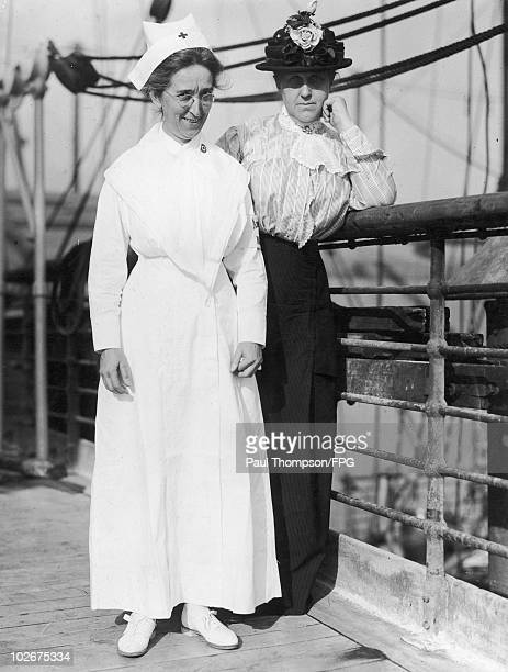 Miss Helen Scott Hay Director of American Red Cross Nursing Personnel during World War I and Miss Jane Delano founder of the American Red Cross...