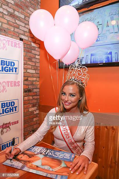 Miss Hooters 2016 Sable Jade Robbert attends the 2017 Hooters Calendar Worldwide Release Celebration at Hooters on September 29 2016 in New York City