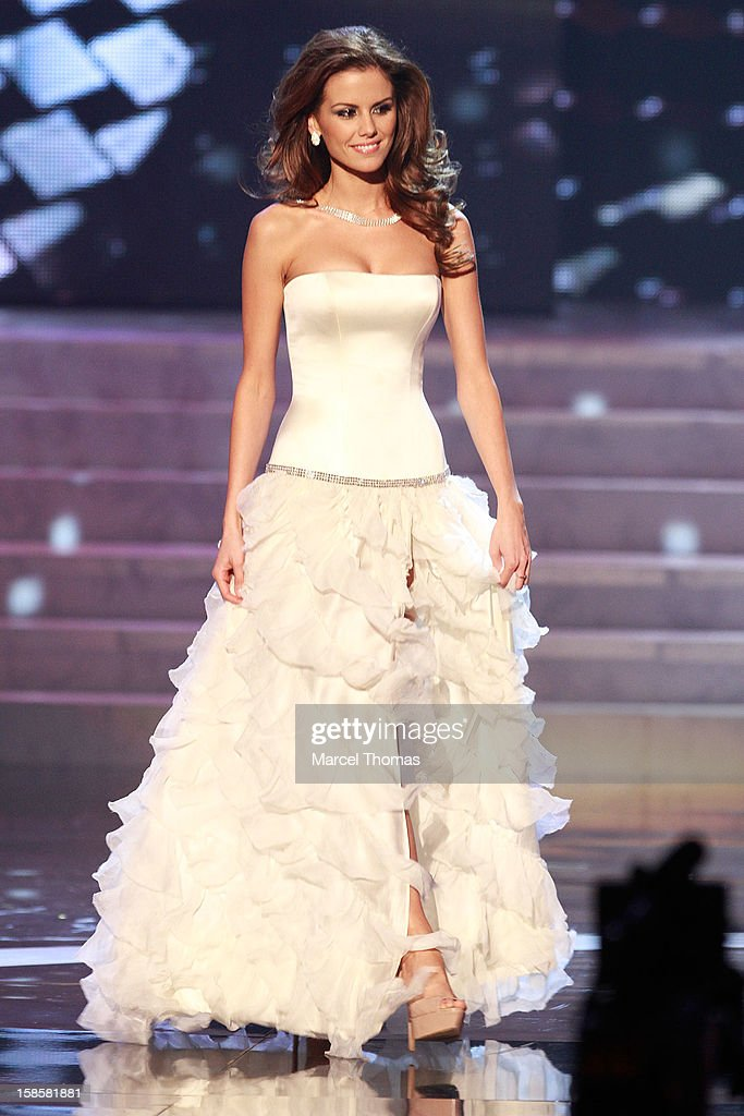 Miss Hungary 2012 Agnes Konkoly competes in the evening gown competition during the 2012 Miss Universe Pageant at Planet Hollywood Resort & Casino on December 19, 2012 in Las Vegas, Nevada.