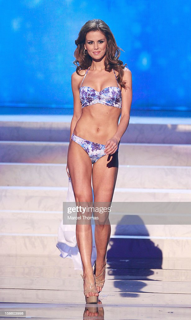 Miss Hungary 2012 Agnes Konkoly competes in the swimsuit competition during the 2012 Miss Universe Pageant at Planet Hollywood Resort & Casino on December 19, 2012 in Las Vegas, Nevada.