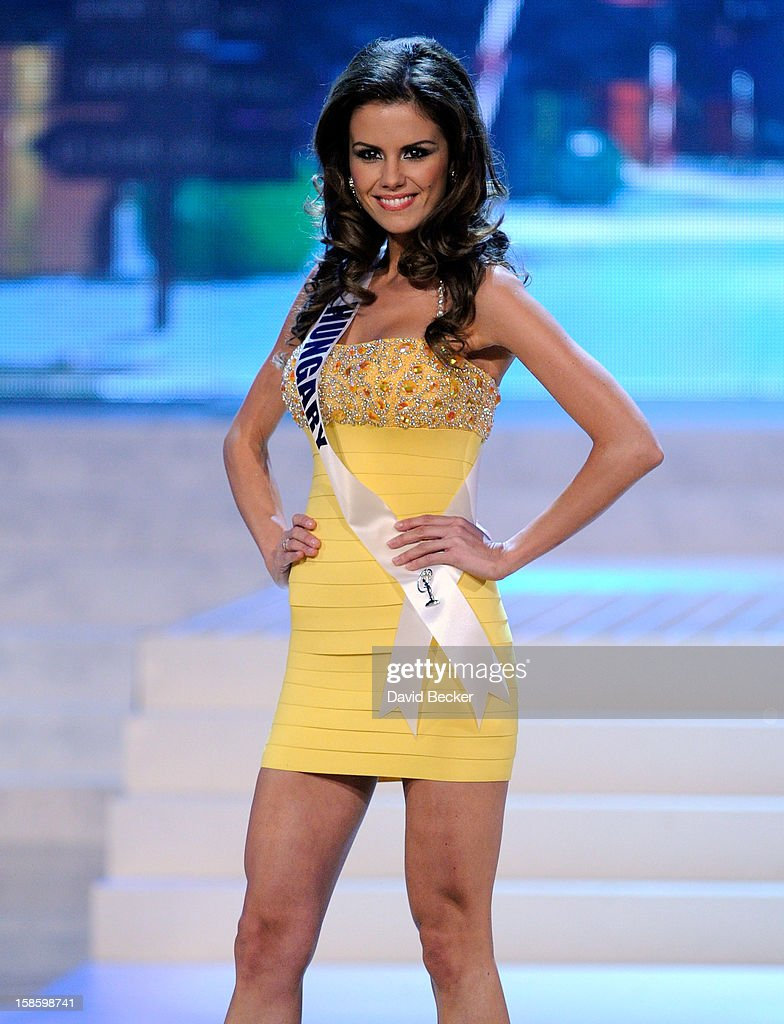 Miss Hungary 2012, Agnes Konkoly, is introduced during the 2012 Miss Universe Pageant at PH Live at Planet Hollywood Resort & Casino on December 19, 2012 in Las Vegas, Nevada.