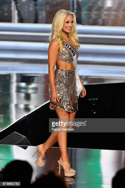 Miss Iceland 2017 Arna Yr Jonsdottir competes during the 2017 Miss Universe Pageant at The Axis at Planet Hollywood Resort Casino on November 26 2017...